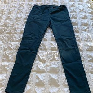 Teal skinny H&M high waisted pants